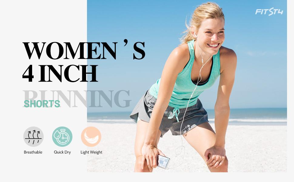 women 2 in 1 running shorts