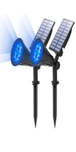 solar spotlight blue