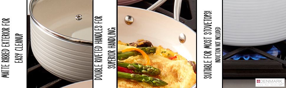 EASY, CLEAN-UP, CLEANUP, NON-STICK, BEST, SUPERIOR, HANDLING, CLEANING, STOVETOP, GAS, ELECTRIC