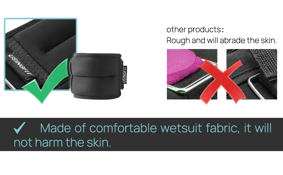 Made of comfortable wetsuit fabric, it will not harm the skin.