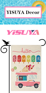 YISUYA ice cream summer garden flag