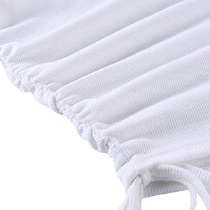 Womens Ruched Short Mini Bodycon Dress Side Drawstring Casual Summer Tank Shirt Club Dresses