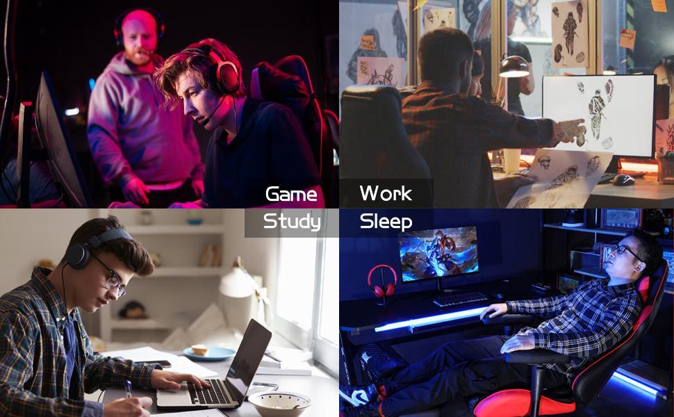 ALEAVIC gaming chair scene diagram