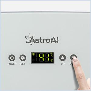 mini fridge with digital screen