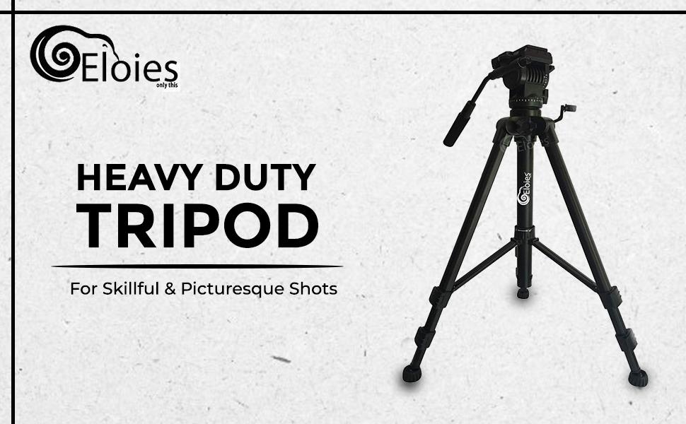 EL971 Professional Series Heavy Duty Tripod   Three Way Heavy PanFluidHead   AluminiumMade SPN-FOR1