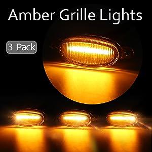 amber grille lights