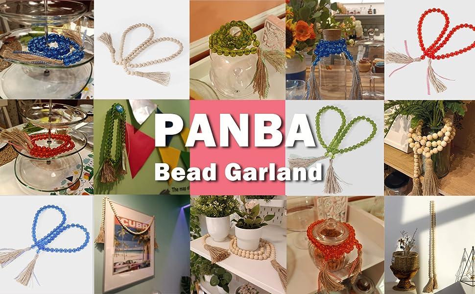PANBA WOOD DECOR GARLAND COFFEE TABLE DECOR