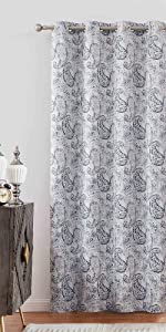 navy blue blackout curtains with design nursery grommet 84 inches long wide window