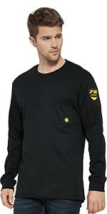 flame resistant henley shirts for men
