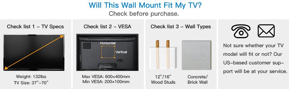 TV WALL MOUNT 600*400mm