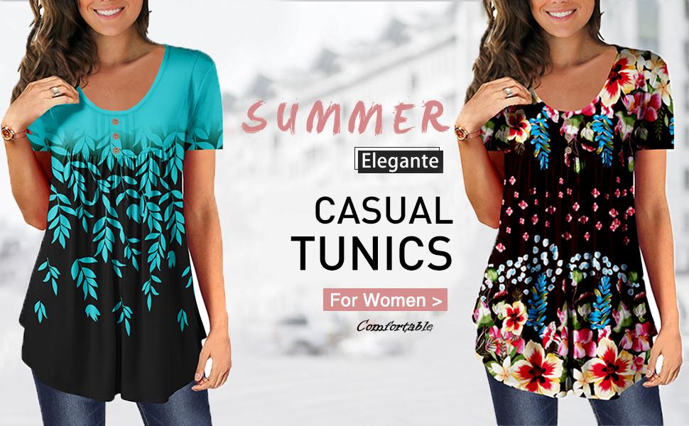 Summer Elegante Casual Tunics For Women