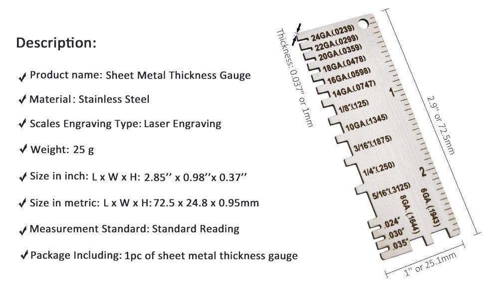miller metal thickness gauge material thickness gauge 229895 metal gauge thickness tool metal gauge