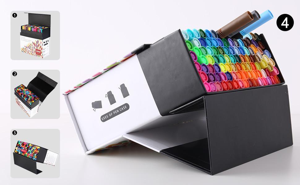 Étui de rangement portable, support de stylo organisé