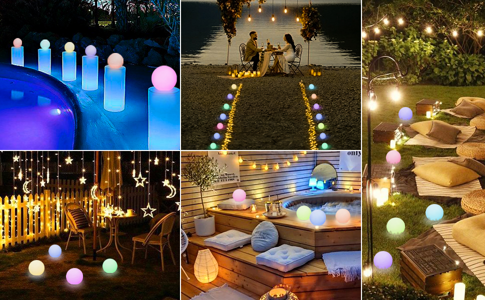 Application of the floating pool lights
