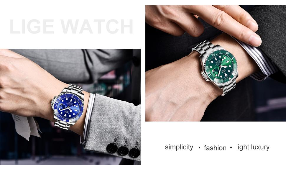 Men's stainless steel business watches