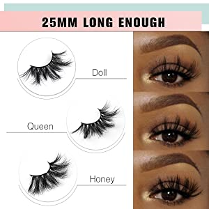 3D 5D 6D 8D 25mm Mink Lashes, Wispy Fluffy Dramatic Long Lashes Eyelashes
