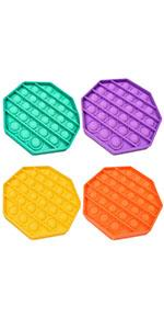 octagon fidget toy 4 pack