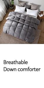 down comforter king gray