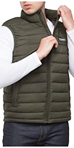 rokka and rolla mens olive packable puffer gilet vest