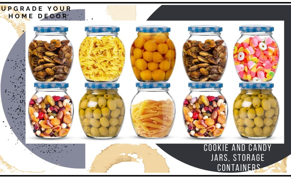 Matka Glass Jar for Storage of Spices and Dry Fruit,