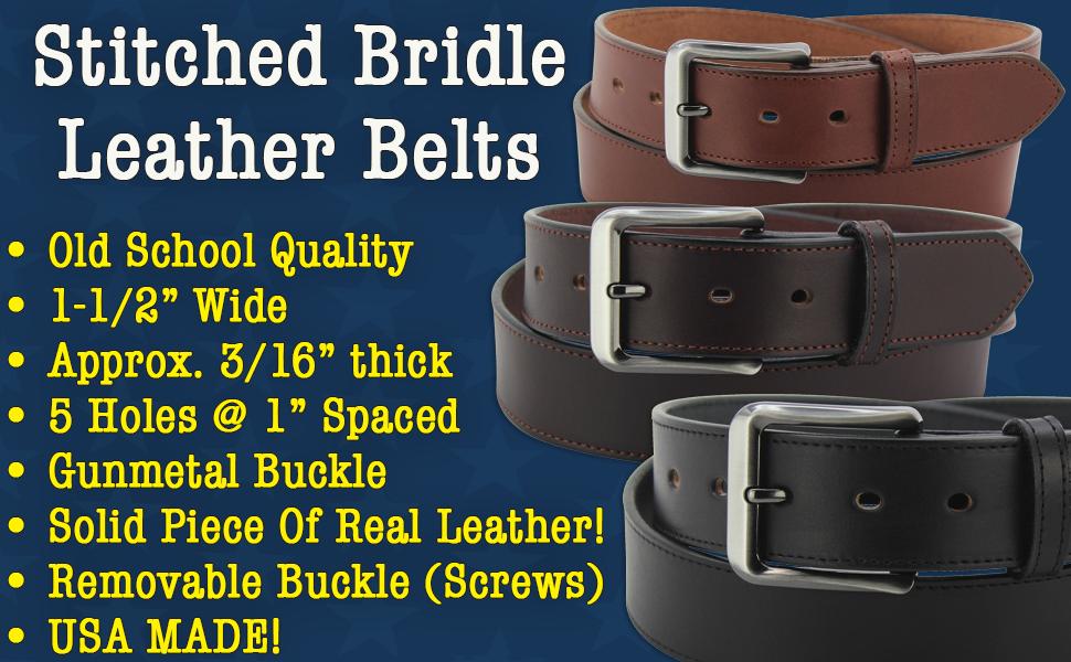 Men's Bridle Leather Belt (8576)