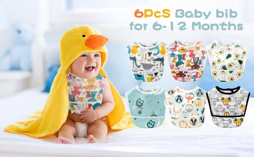 YA-2# Sleeveless Baby Bib 6P