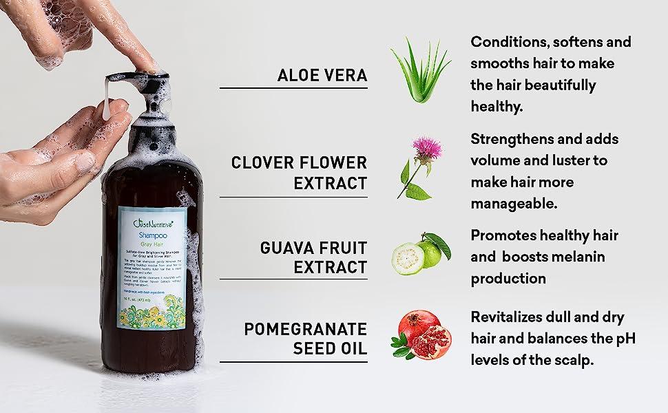 | Gray Hair Shampoo | Gray Hair Treatment | Just Natural Hair Care | Natural Shampoo |