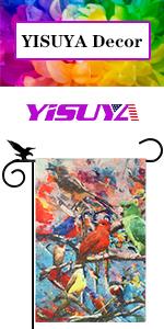 The photo of YISUYA Tree Birds Flag