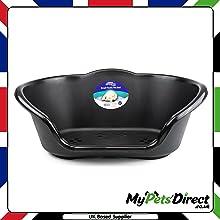 Black Heavy Duty Waterproof Plastic Dog Bed