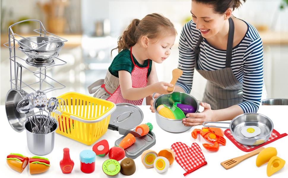 melissa and doug food,kitchen set for kids,kids cooking set,toddler kitchen,toddler kitchen playset