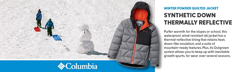 Columbia boys Winter Powder Quilted Jacket
