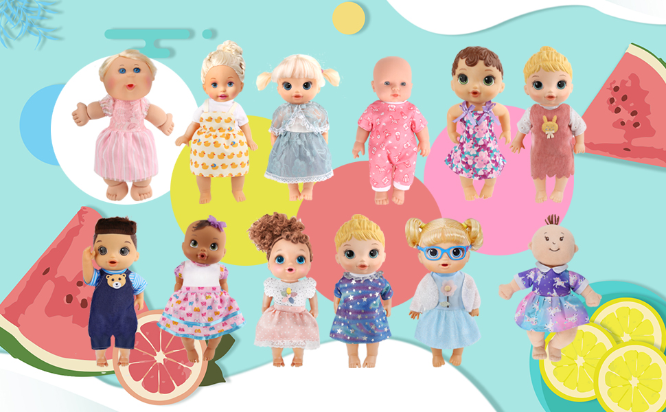 12 Sets Alive Baby Doll Clothes