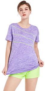 purple short shirt