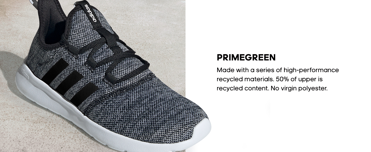 Primegreen: made with high-perfromance recycled materials.
