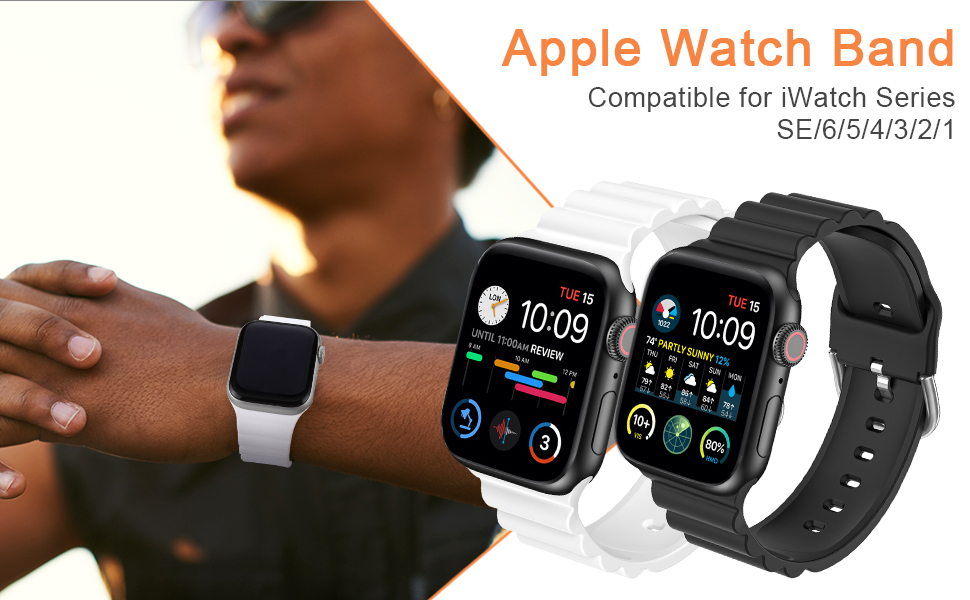 TOYOUTHS Sport Band compatible with apple watch band man woman