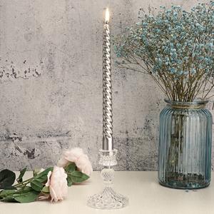 Clear Glass Taper Candlestick-8
