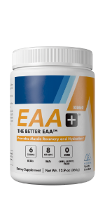 Modern EAA+ Mango Flavor, also available in Watermelon and Blue Raspberry Flavors