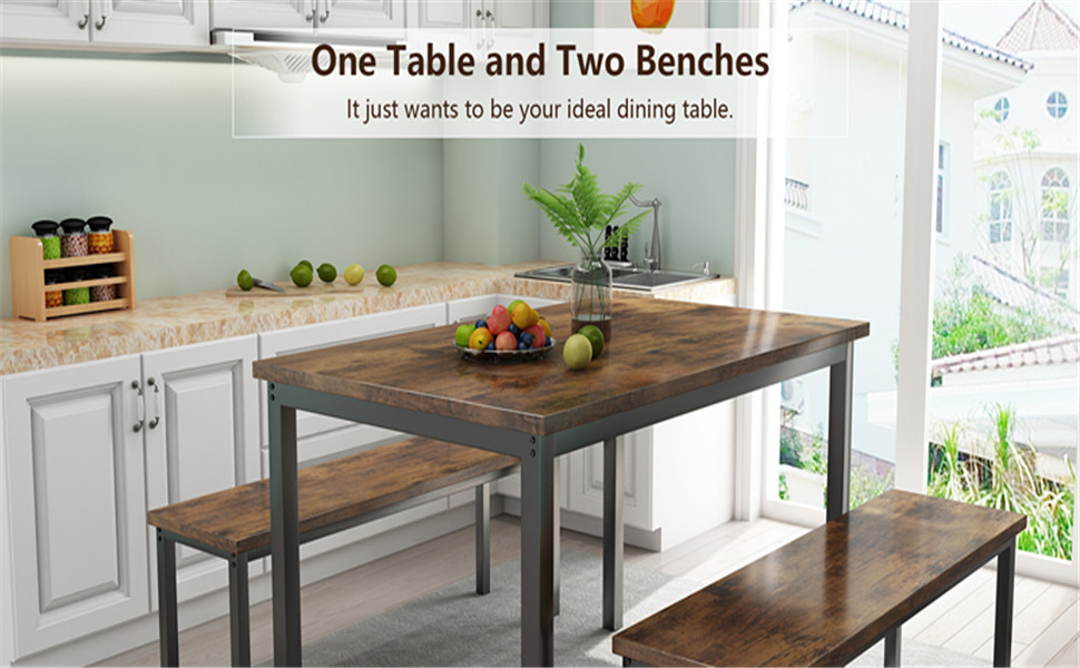 table with two chairs for kitchen