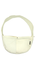 Brathable Puppy sling white