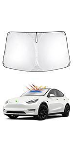 Windshield Sunshade for Tesla Model Y 20-22
