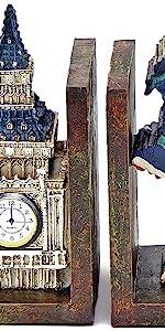 Bellaa Decorative Bookends Modern Book Ends Antique Bookend Cool Bookshelf Decor London England
