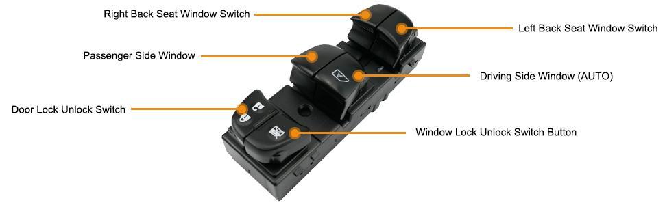 Master Power Window Control Switch