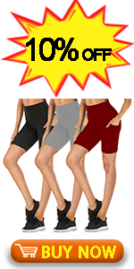 High Waisted Biker Shorts with Pockets for Women-8 Spandex Stretchy Yoga Athletic Workout Shorts