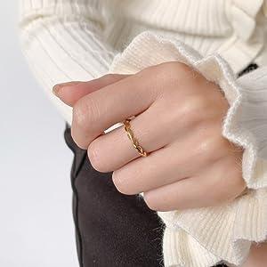 2mm thin ring gold