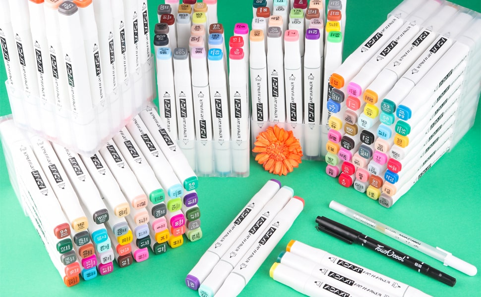 168 colors markers
