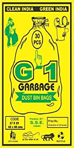 Small sized black colored garbage bags