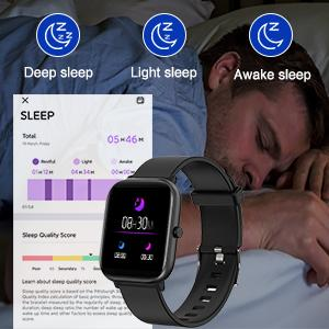 24/7 Heart Rate Monitor & Sleep Tracker Smart watch for Android Phones Samsung iPhone