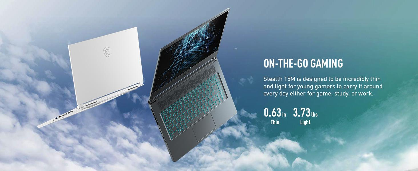 Thinnest Gaming Laptop On the go portable study work game incredibly thin