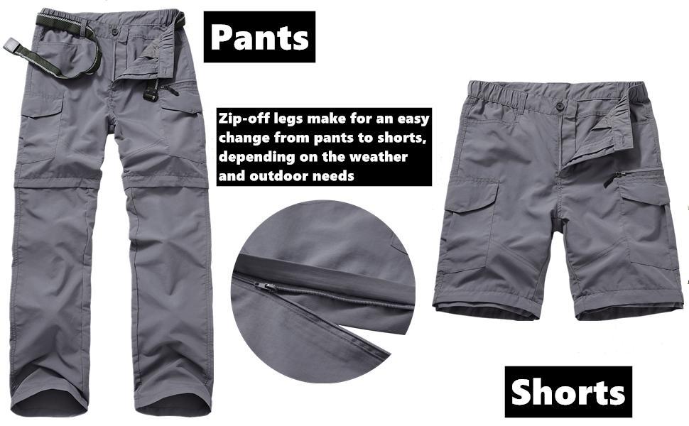 mens convertible hiking pants omni shade pants men outdoor zip cargo pants