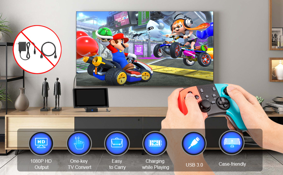 TV dock for switch